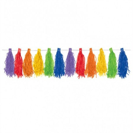 Rainbow Tassel Garland 3m My Dream Party Shop