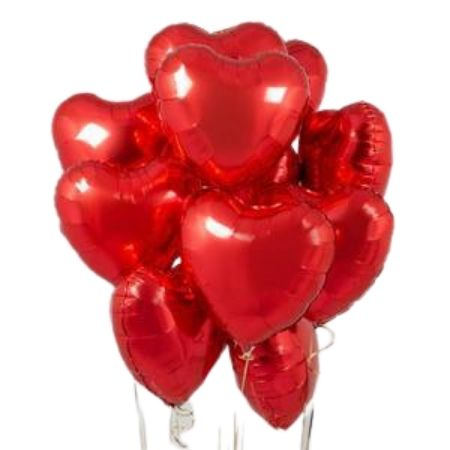 Dozen Red Heart Balloons I Helium Balloons for Collection Ruislip I My Dream Party Shop