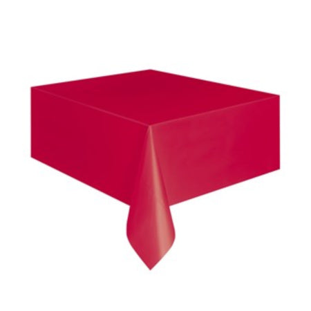 "Red Rectangular Plastic Tablecover 54""x 108"" I Party Tableware & Tablecloths I My Dream Party Shop I UK"