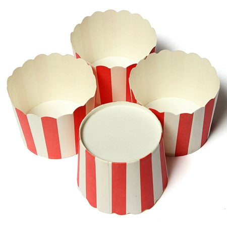 Red and White Striped Baking Cups I Red & White Tableware & Decorations I My Dream Party Shop I UK