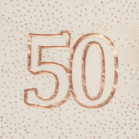 Rose Gold and White 50th Birthday Napkins I 50th Birthday Party I My Dream Party Shop UK