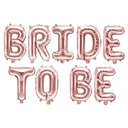 Rose Gold Bride to Be Balloon Bunting I Modern Hen Party Decorations I My Dream Party Shop