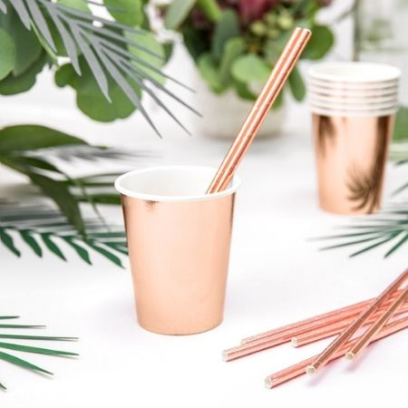 Rose Gold Foil Cups I Rose Gold Party Tableware I My Dream Party Shop UK