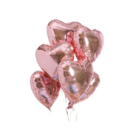 Rose Gold Heart Balloon Clusters I Helium Inflated for Collection Ruislip I My Dream Party Shop