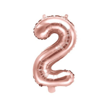 Large Rose Gold Foil Number Balloon I Number Two Balloon I My Dream Party Shop UK