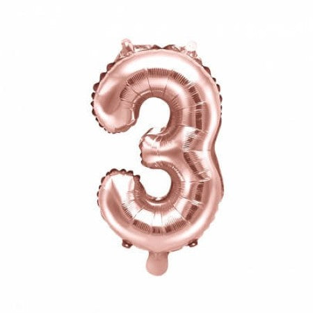 Large Rose Gold Foil Number Balloon I Number Three Balloon I My Dream Party Shop UK
