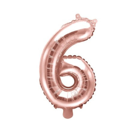 Large Rose Gold Foil Number Balloon I Number Six Balloon I My Dream Party Shop UK