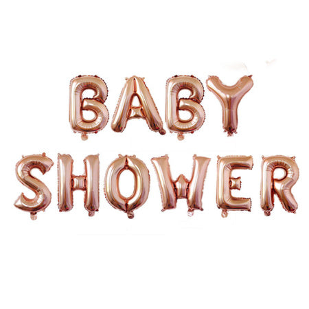 Baby Shower Rose Gold Phrase Balloon Bunting I Baby Shower Decorations & Tableware I My Dream Party Shop I UK