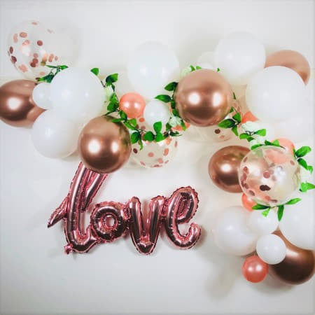 White and Rose Gold Balloon Garland Kit I Wedding Balloon Decorations I My Dream Party Shop UK