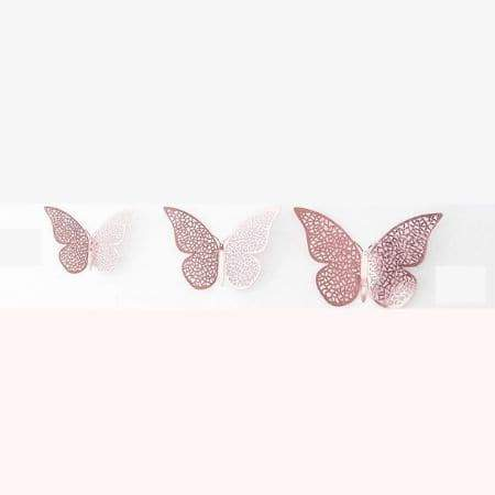 Rose Gold Butterfly Decorations I Rose Gold Party Decorations I UK