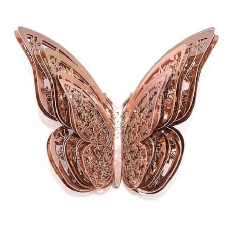 Rose Gold Butterfly Decorations I Rose Gold Wedding Decorations I UK