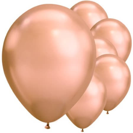 Rose Gold Chrome 11 Inch Balloons I Chrome Party Balloons UK