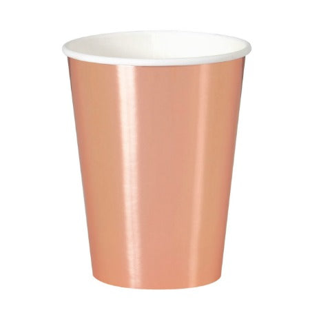 Extra Large Rose Gold Foil Cups I Rose Gold Party I My Dream Party Shop