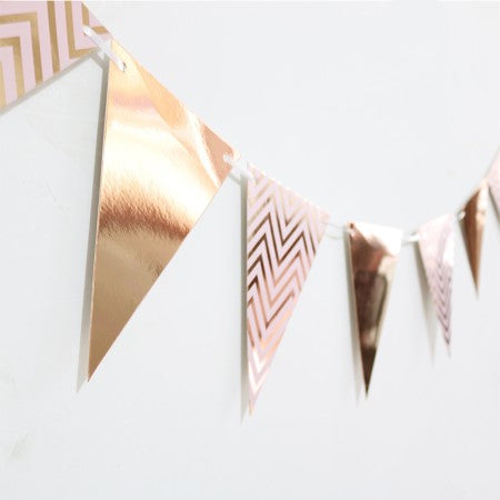 Rose Gold Foil Flag Bunting I Rose Gold Party Decorations I My Dream Party Shop I UK