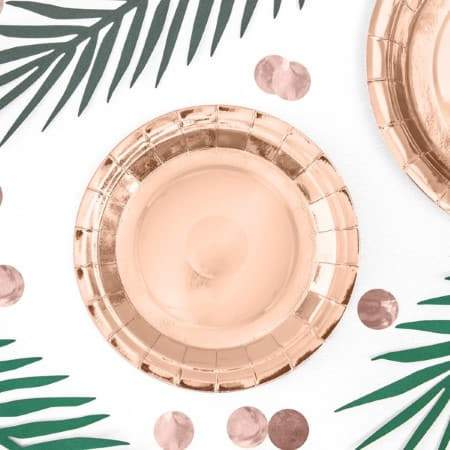 Rose Gold Foil Plates 7 Inch I Rose Gold Party Supplies I My Dream Party Shop