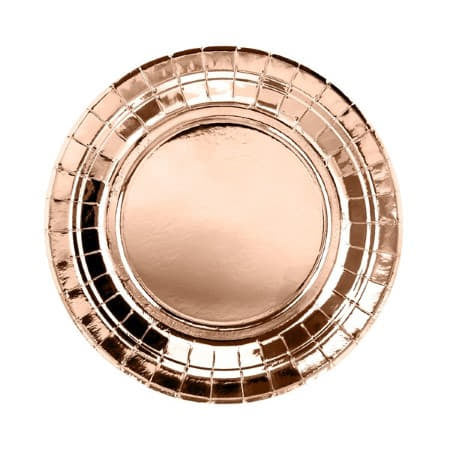 Metallic Foil Round Rose Gold Plates I Rose Gold Party I My Dream Party Shop