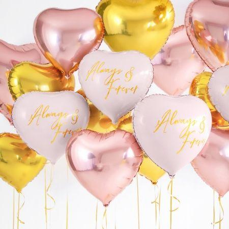 Metallic Foil Rose Gold Heart Balloon I Valentine's Day Balloons I My Dream Party Shop I UK