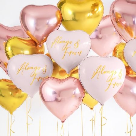 Metallic Foil Blush Pink Heart Balloon I Valentine's Day Balloons I My Dream Party Shop UK
