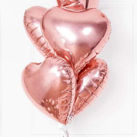 Metallic Foil Rose Gold Heart Balloon I Rose Gold Party Decorations I My Dream Party Shop I UK