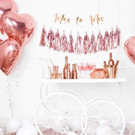 Metallic Foil Rose Gold Heart Balloon I Rose Gold Hen Party I My Dream Party Shop I UK