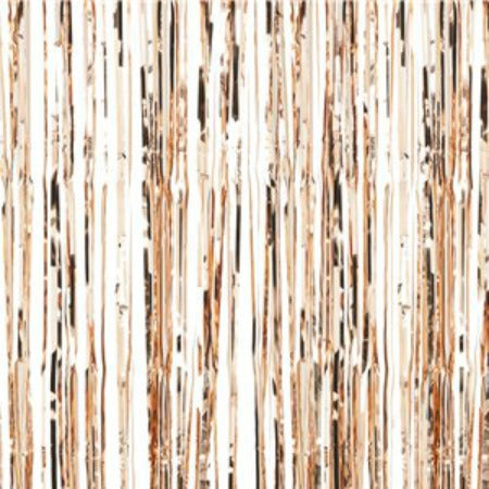 Rose Gold Door Curtain by Ginger Ray 2.5m Made of Metallic Foil I UK