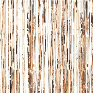 Rose Gold Metallic Fringed Door Curtain - 2.5m - My Dream Party Shop