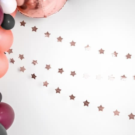 Rose Gold Star Garland I Rose Gold Party Supplies I UK
