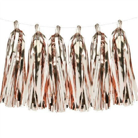 Rose Gold Foil Tassel Garland - My Dream Party Shop