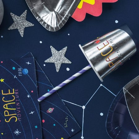 Space Party Silver Foil Cups I Space Party Tableware I My Dream Party Shop I UK