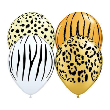 Jungle Print 5 Inch Balloons I Jungle Party Supplies and Balloons I My Dream Party Shop I UK