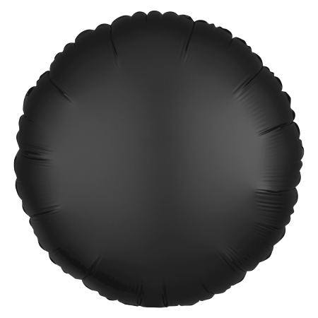Satin Luxe Onyx Black Round Balloon I Black Party Supplies I My Dream Party Shop UK