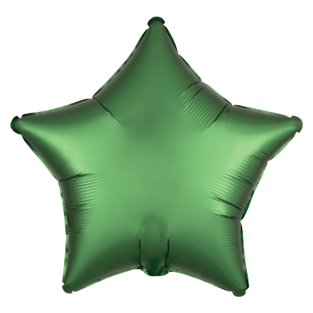 Satin Luxe Emerald Green Star Balloon I Green Party Supplies I My Dream Party Shop UK