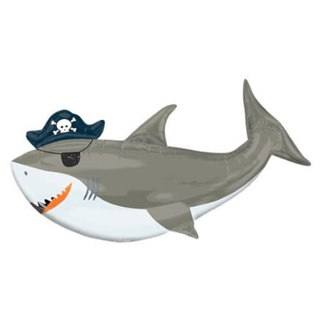 Sea Ahoy Pirate Shark Supershape Balloon I Under the Sea Party I My Dream Party Shop