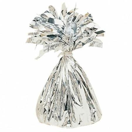 Silver 6oz Foil Tassel Balloon Weight My Dream Party Shop