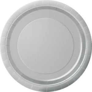 "9"" Silver Round Paper Party Plates 8pk My Dream Party Shop"