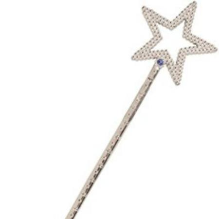 Silver Fairy Princess Star Wand 35cm My Dream Party Shop