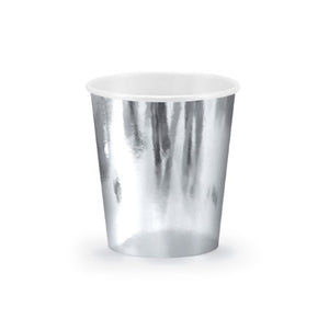 Silver Large Foil Cups I Pretty Silver Tableware & Decorations I My Dream Party Shop I UK