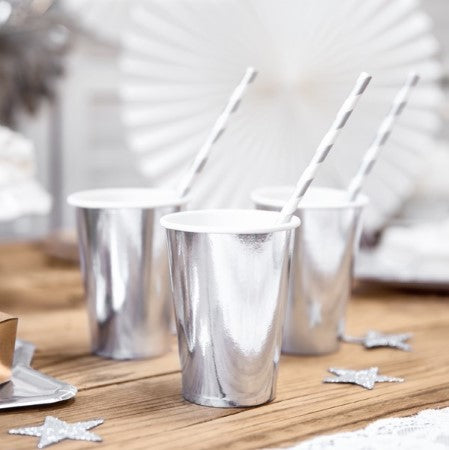 Silver Small Foil Cups I My Dream Party Shop I UK