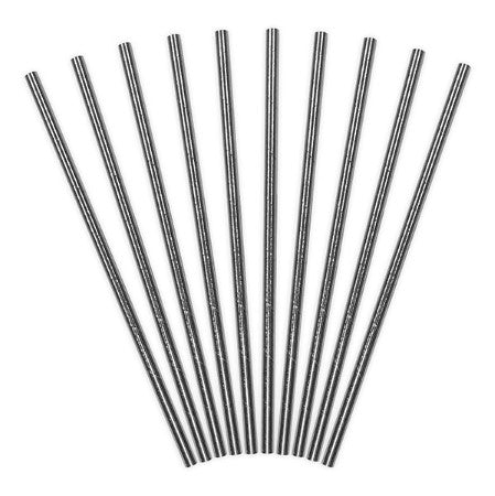 Silver Foil Paper Party Drinking Straws I My Dream Party Shop I UK