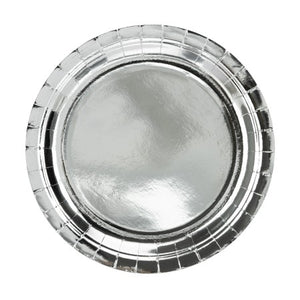 Large Round Silver Foil Paper Party Plates I My Dream Party Shop I UK