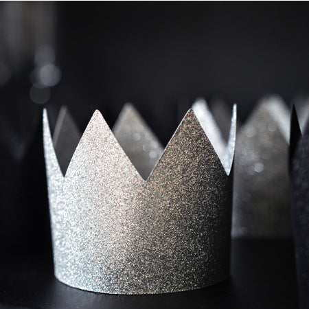Silver Glitter Party Crown - My Dream Party Shop