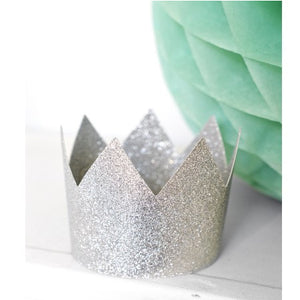 Silver Sparkly Party Princess Crown Set of 8 - My Dream Party Shop