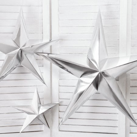 Silver Mirror Star Decoration I My Dream Party Shop I UK