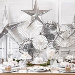 Silver Mirror Star Hanging Decoration I My Dream Party Shop I UK