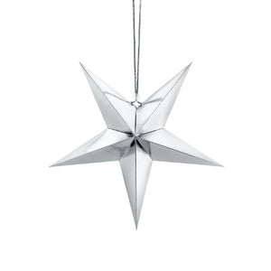 Silver Star Decoration I My Dream Party Shop I UK