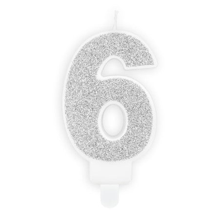 Silver Number Candles I Modern Cake Accessories I My Dream Party Shop UK