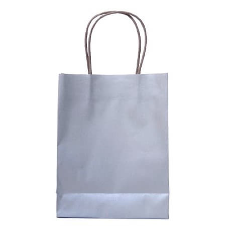 Silver Party Bags with Handles I Modern Silver Party Supplies and Decorations I UK