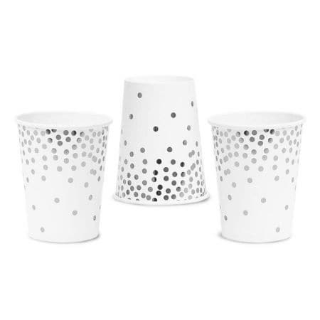Silver Polka Dot Cups I Modern Silver Tableware and Decorations I UK