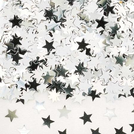 Silver Star Metallic Confetti 14g - My Dream Party Shop