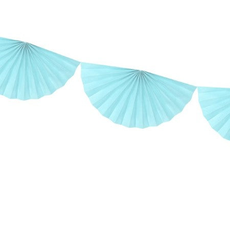 Light Blue Tissue Fan Garland I Modern Party Decorations I My Dream Party Shop I UK